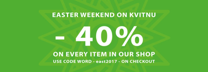 -40% Easter Sale on KVITNU!