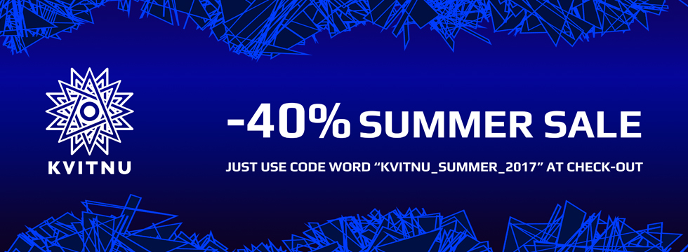 -40% SUMMER SALE on Kvitnu